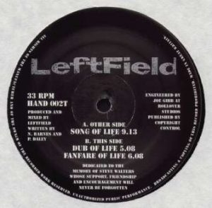 "Song Of Life (1992) 12"" label"